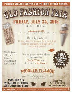 Old Fashion Fair in Jacksonville, OR @ Pioneer Village