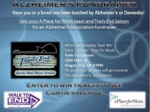 Alzheimer's Fundraiser @ Trail End Saloon  | Oregon City | Oregon | United States