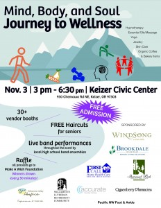 Mind, Body and Soul Journey to Wellness @ Keizer Civic Center | Keizer | Oregon | United States