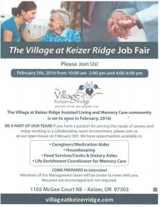 Job Fair @ Village at Keizer Ridge Job Fair   Keizer   Oregon   United States
