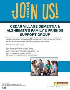 Dementia and Alzheimer's Support Group @ Cedar Village Assisted Living and Memory Care | Salem | Oregon | United States