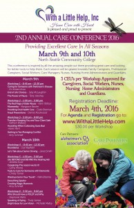 2nd Annual Care Conference 2016 @ North Seattle Comunity College