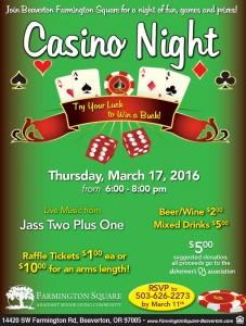 Casino Night @ Farmington Square Beaverton | Beaverton | Oregon | United States