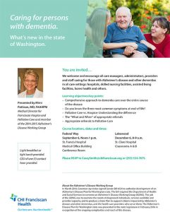What's New in the State of Washington? Caring for persons with Dementia @ St. Francis Hospital @ the Medical Office Building (MOB) | Federal Way | Washington | United States