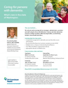 What's New in the State of Washington? Caring for persons with Dementia @ St. Clare Hospital- Classrooms A & B   Lakewood   Washington   United States