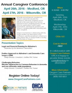 OHCA Caregiver Conference @ Inn at the Commons | Medford | Oregon | United States
