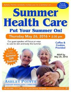 Summer Health Care Seminar @ Ashley Pointe | Lake Stevens | Washington | United States