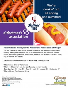 Gilman Grills for Alzheimer's @ Gilman Park Assisted Living | Oregon City | Oregon | United States