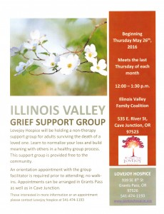 Illinois Valley Grief Support Group @ Illinois Valley Family Coalition | Cave Junction | Oregon | United States