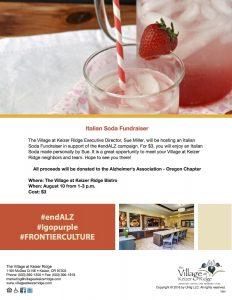 Italian Soda Fundraiser @ The Village at Keizer Ridge   Keizer   Oregon   United States