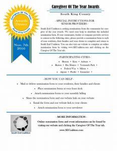 Caregiver of the Year Awards - South King County @ Kent Senior Activity Center   Kent   Washington   United States