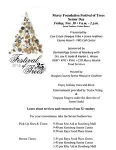 2018 Annual Festival of Trees - Senior Day! @ Seven Feathers Casino Resort  | Canyonville | Oregon | United States