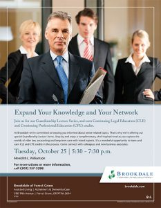 Expand Your Knowledge and your Network - Guardianship Seminar @ Brookdale Forest Grove | Forest Grove | Oregon | United States