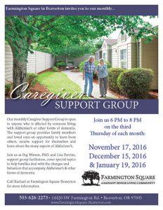 Farmington Square Beaverton: Caregiver Support Group @ Farmington Square: A Radiant Senior Living Community | Beaverton | Oregon | United States