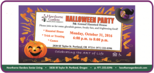 Halloween Spooktacular @ Hawthorne Gardens Senior Living Community   Portland   Oregon   United States