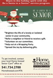 Be a Santa to a Senior 2016 @ Grants Pass and Medford areas | Grants Pass | Oregon | United States
