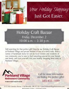 Holiday Craft Bazaar @ Parkland Village Retirement   McMinnville   Oregon   United States