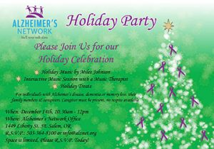 Alzheimer's Network Holiday Party @ Alzheimer's Network   Salem   Oregon   United States