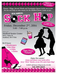 4th Annual Sock Hop @ Medford Senior Center | Medford | Oregon | United States