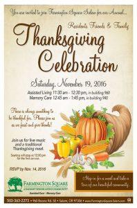 Thanksgiving Celebration @ Farmington Square Salem   Salem   Oregon   United States