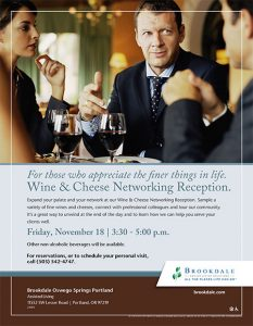 Wine and Cheese Professional Networking @ Brookdale Oswego Springs  | Portland | Oregon | United States
