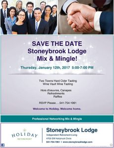 Professional Mix and Mingle at Stoneybrook Lodge @ Stoneybrook Lodge Independent Living | Corvallis | Oregon | United States