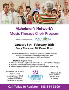 Music Therapy Choir Class @ Alzheimer's Network | Salem | Oregon | United States