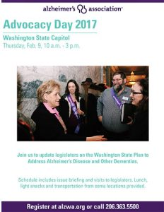 Alzheimer's Association 2017 Advocacy Day @ Washington State Capitol | Olympia | Washington | United States