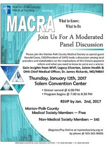MACRA: What to Know; What to Do @ Salem Convention Center | Salem | Oregon | United States