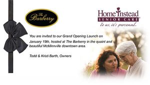 Grand Opening Launch in McMinnville, OR @ The Barberry | McMinnville | Oregon | United States