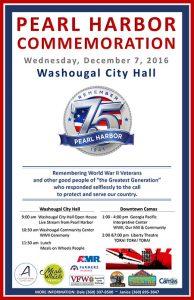Pearl Harbor 75th Commemoration @ Washougal City Hall | Washougal | Washington | United States