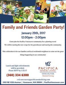 Community Garden Party @ Pacifica Senior Living Vancouver | Vancouver | Washington | United States