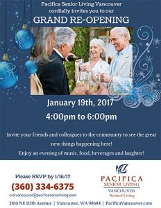 Grand Re-Opening @ Pacifica Senior Living Vancouver   Vancouver   Washington   United States