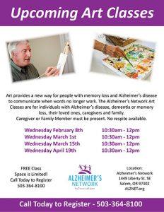 Alzheimer's Network Art Class @ Alzheimer's Network | Salem | Oregon | United States