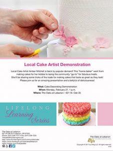 Local Cake Artist Demonstration @ The Oaks at Lebanon | Lebanon | Oregon | United States