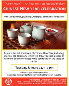 """Happy Hour"": Chinese New Year Celebration @ Wallingford Community Senior Center 
