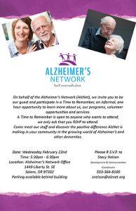 Time to Remember @ Alzheimer's Network | Salem | Oregon | United States