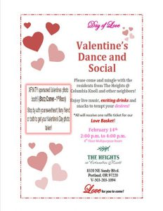 Valentines Day Dance and Social @ The Heights @ Columbia Knoll | Portland | Oregon | United States