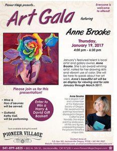 Art Gala Featuring Anne Brooke @ Pioneer Village | Jacksonville | Oregon | United States