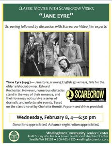 "Classic Moves with Scarecrow Video: ""Jane Eyre"" @ Wallingford Community Senior Center | Seattle | Washington | United States"