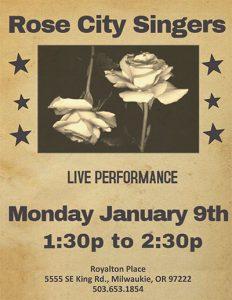 Rose City Singers @ Royalton Place   Milwaukie   Oregon   United States