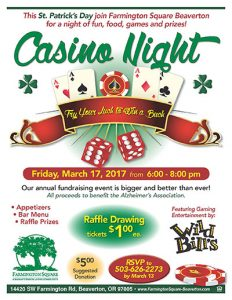 Casino Night @ Farmington Square Beaverton   Beaverton   Oregon   United States