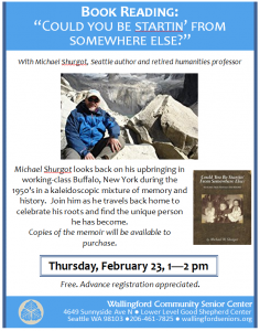 Book Reading with Michael Shurgot @ Wallingford Community Senior Center | Seattle | Washington | United States