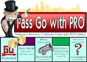 Pass Go with PRO, Parkinson's Resources of Oregon @ Multnomah Athletic Club | Portland | Oregon | United States