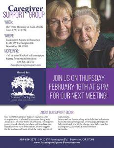 Caregiver Support Group @ Farmington Square Beaverton   Beaverton   Oregon   United States