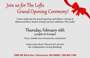 The Lofts at Glenwood Place Grand Opening and Ribbon Cutting @ Glenwood Place Senior Living | Vancouver | Washington | United States