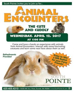 Animal Encounters: The Cute and Cuddly @ South Pointe | Everett | Washington | United States