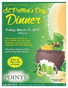 St. Patrick's Day Dinner @ South Pointe | Everett | Washington | United States