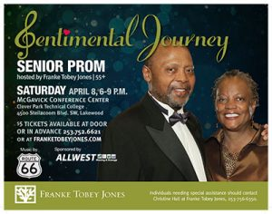 8th Annual Senior Prom ( for age 55+) @ McGavick Conference Center at Clover Park Technical College | Lakewood | Washington | United States