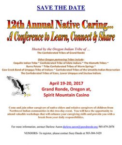 12th Annual Native Caring Conference @ Spirit Mountain Casino | Grand Ronde | Oregon | United States